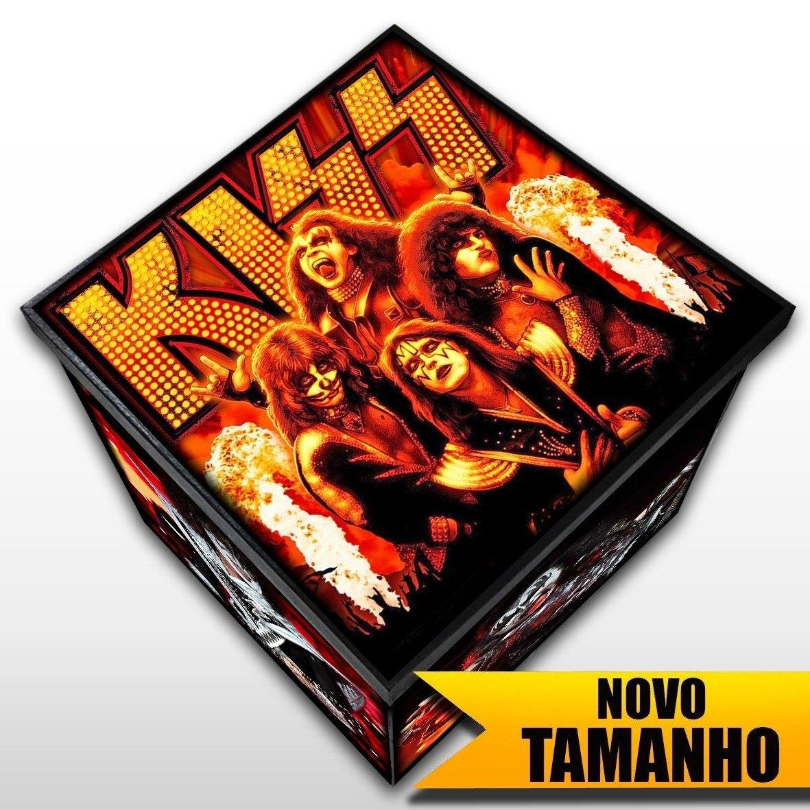 Kiss - Caixa em Madeira MDF - Tamanho Grande - Mr. Rock