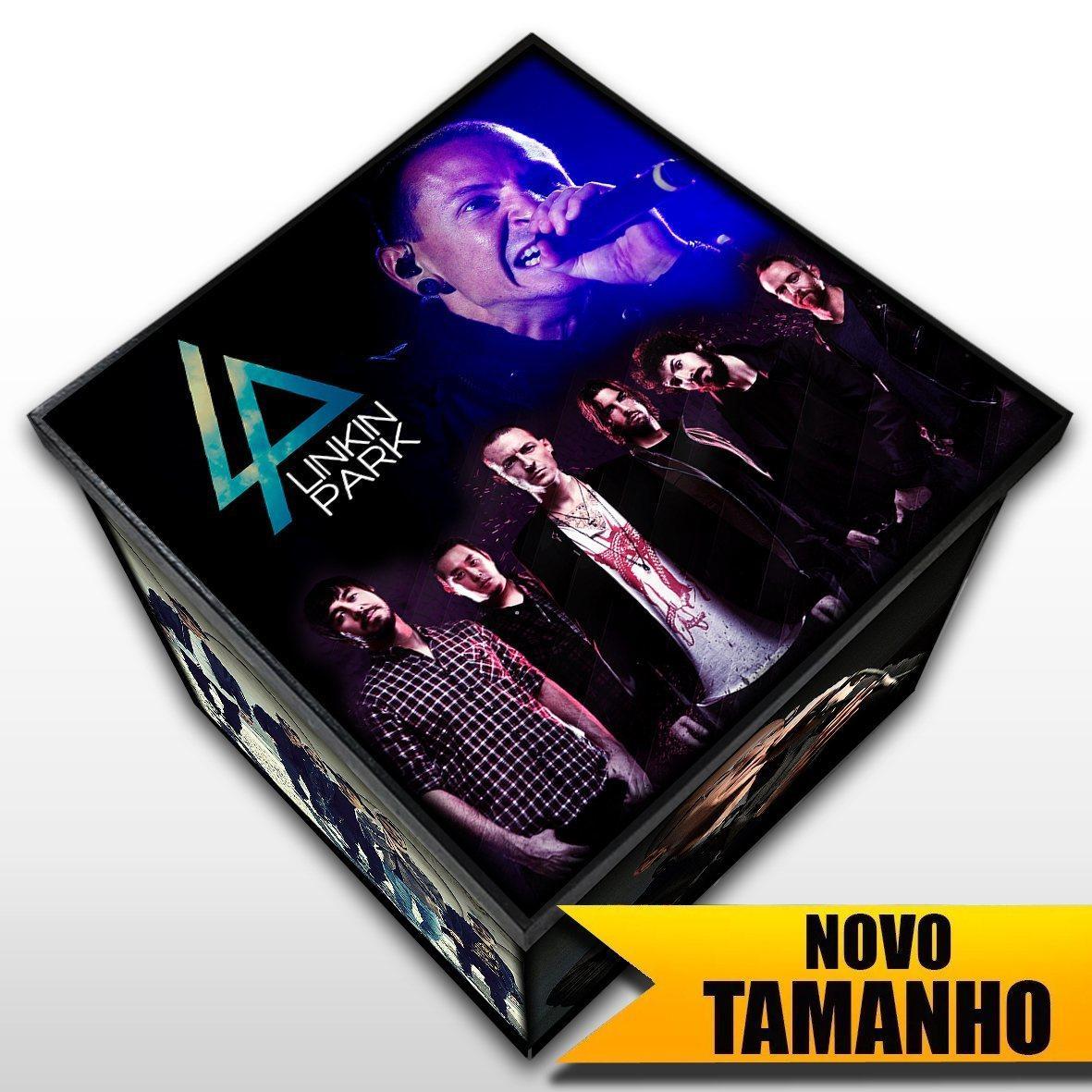 Linkin Park - Caixa em Madeira MDF - Tamanho Grande - Mr. Rock