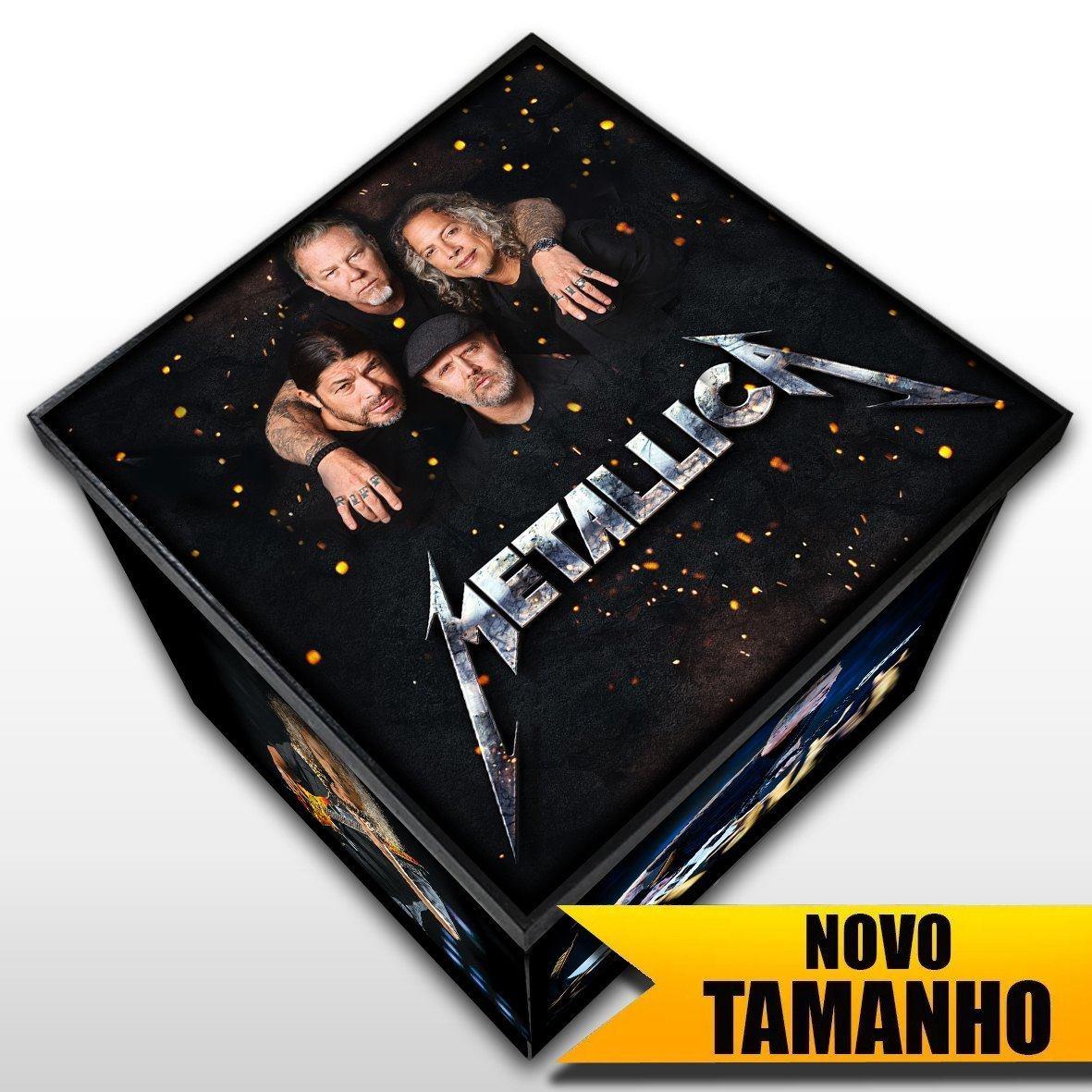 Metallica - Caixa em Madeira MDF - Tamanho Grande - Mr. Rock