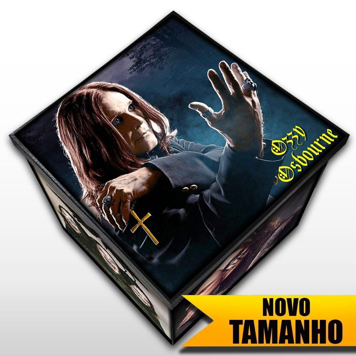 Ozzy Osbourne - Caixa em Madeira MDF - Tamanho Grande - Mr. Rock