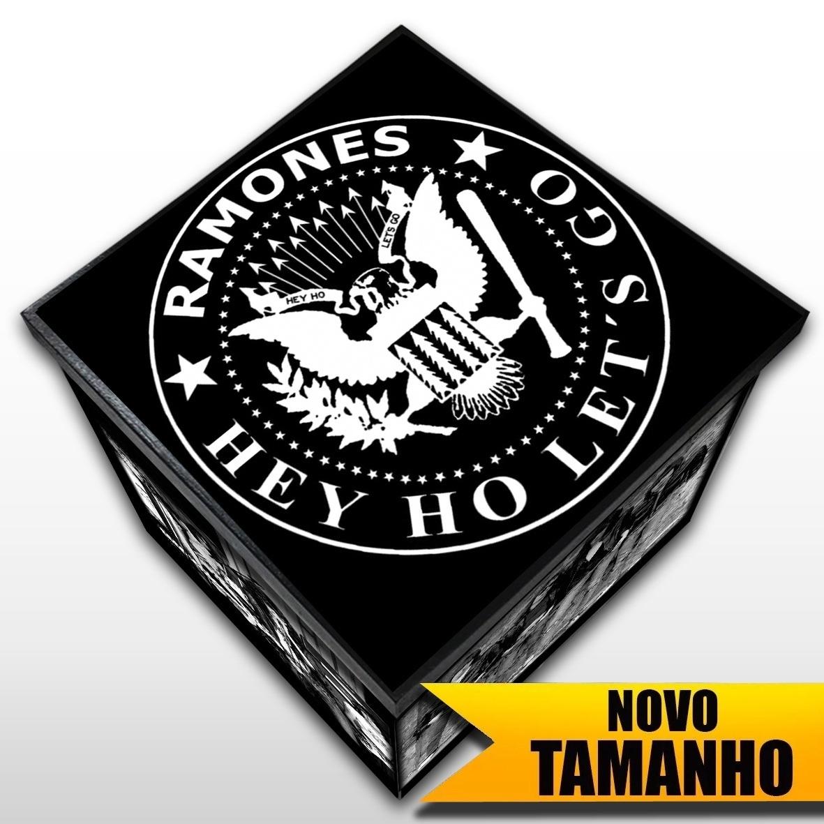 Ramones - Caixa em Madeira MDF - Tamanho Grande - Mr. Rock