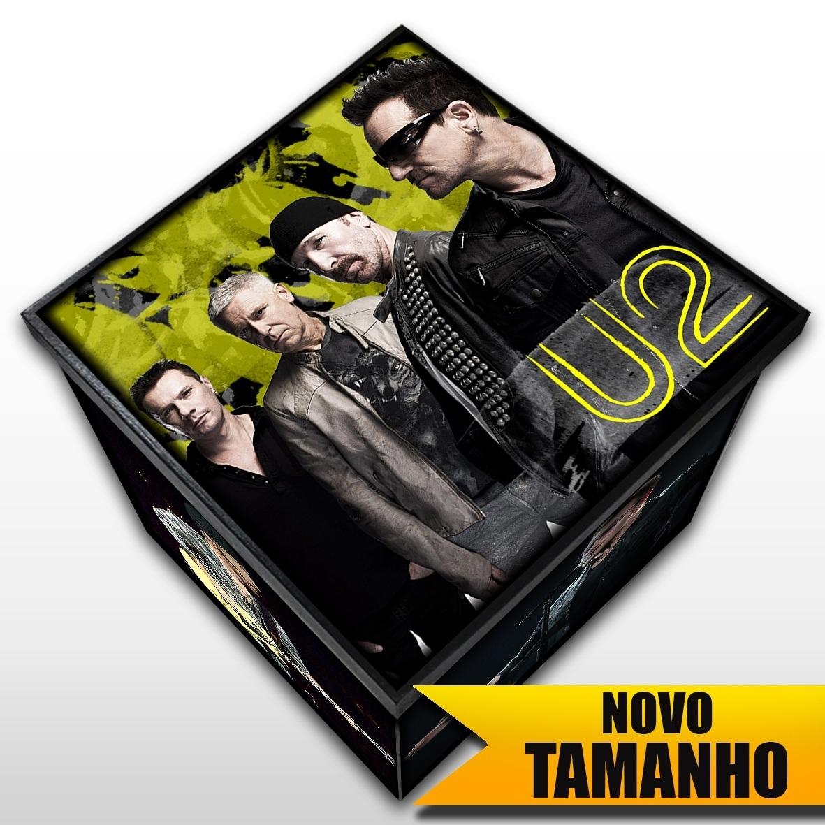 U2 - Caixa em Madeira MDF - Tamanho Grande - Mr. Rock