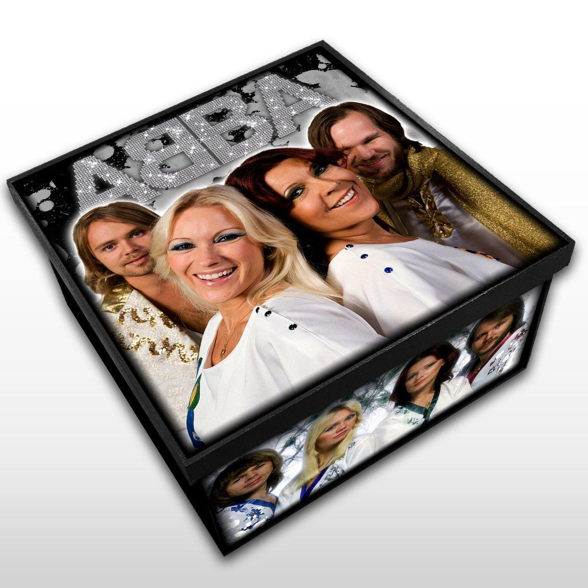 ABBA - Caixa em Madeira MDF - Tamanho Médio - Mr. Rock