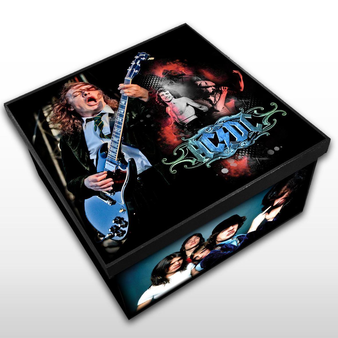 AC/DC - Caixa em Madeira MDF - Tamanho Médio - Mr. Rock