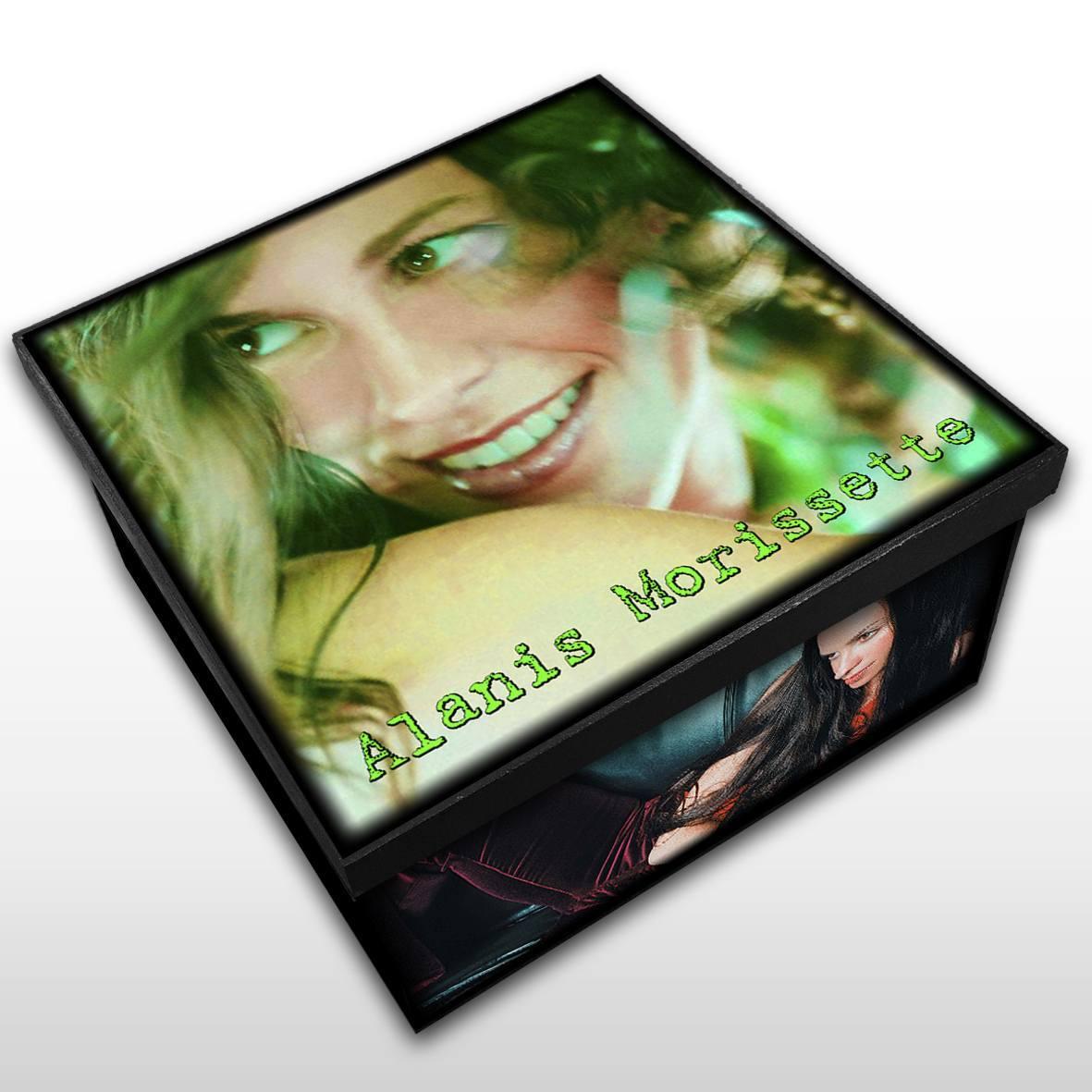 Alanis Morissette - Caixa Organizadora em Madeira MDF - Tamanho Médio - Mr. Rock