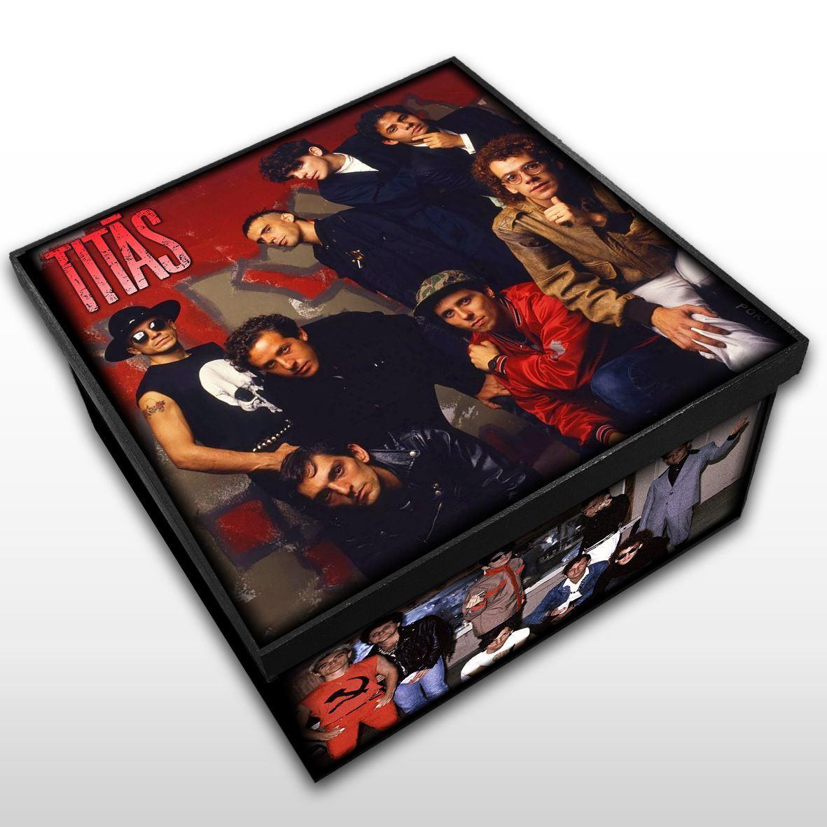 Titãs - Caixa Organizadora em Madeira MDF - Tamanho Médio - Mr. Rock