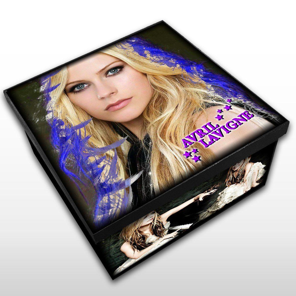 Avril Lavigne - Caixa Organizadora em Madeira MDF - Tamanho Médio - Mr. Rock