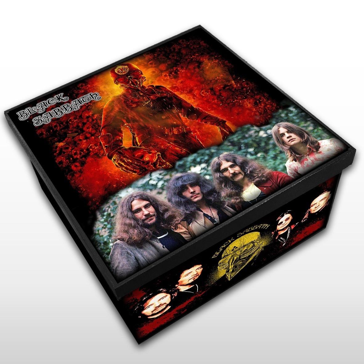 Black Sabbath - Caixa em Madeira MDF - Tamanho Médio - Mr. Rock