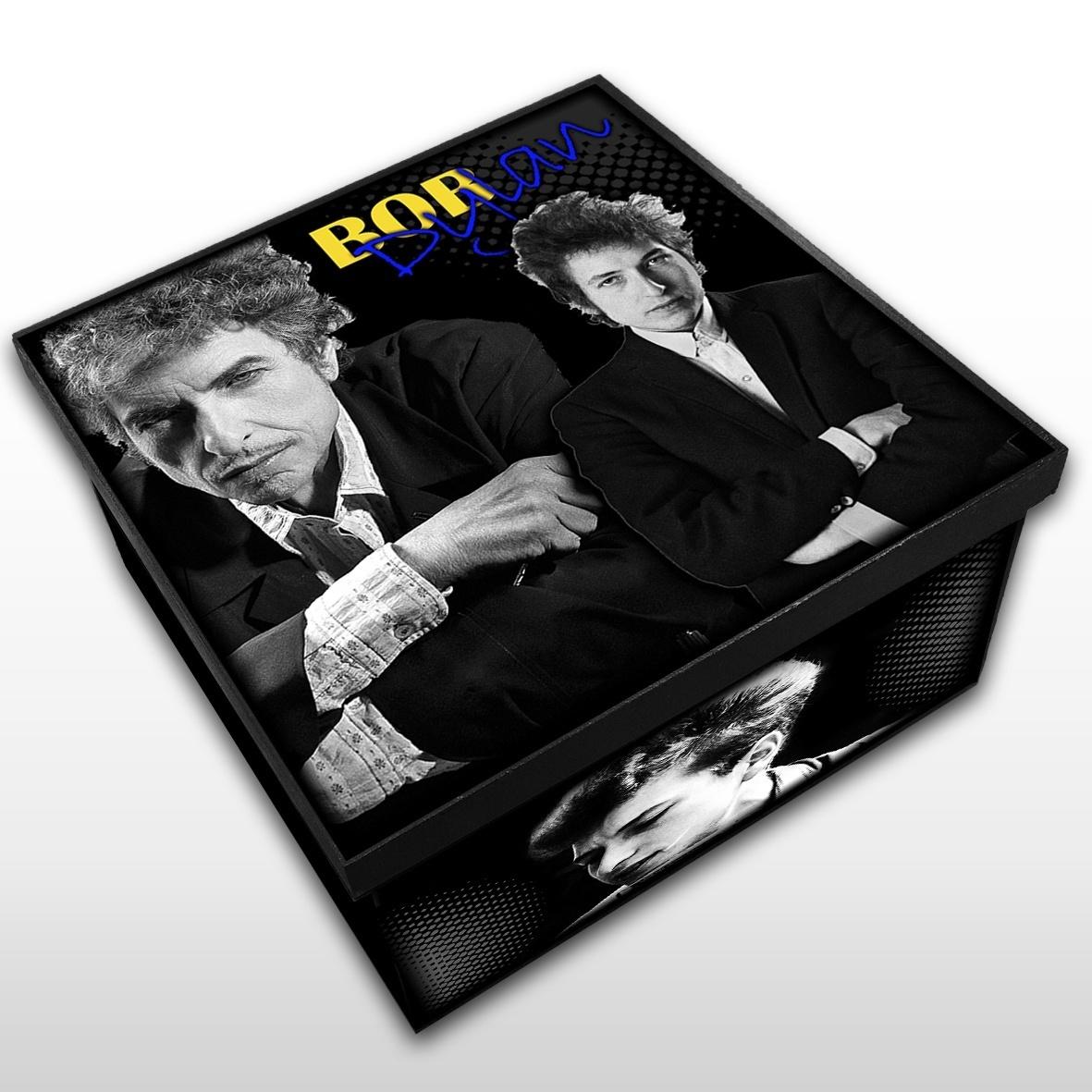 Bob Dylan - Caixa em Madeira MDF - Tamanho Médio - Mr. Rock