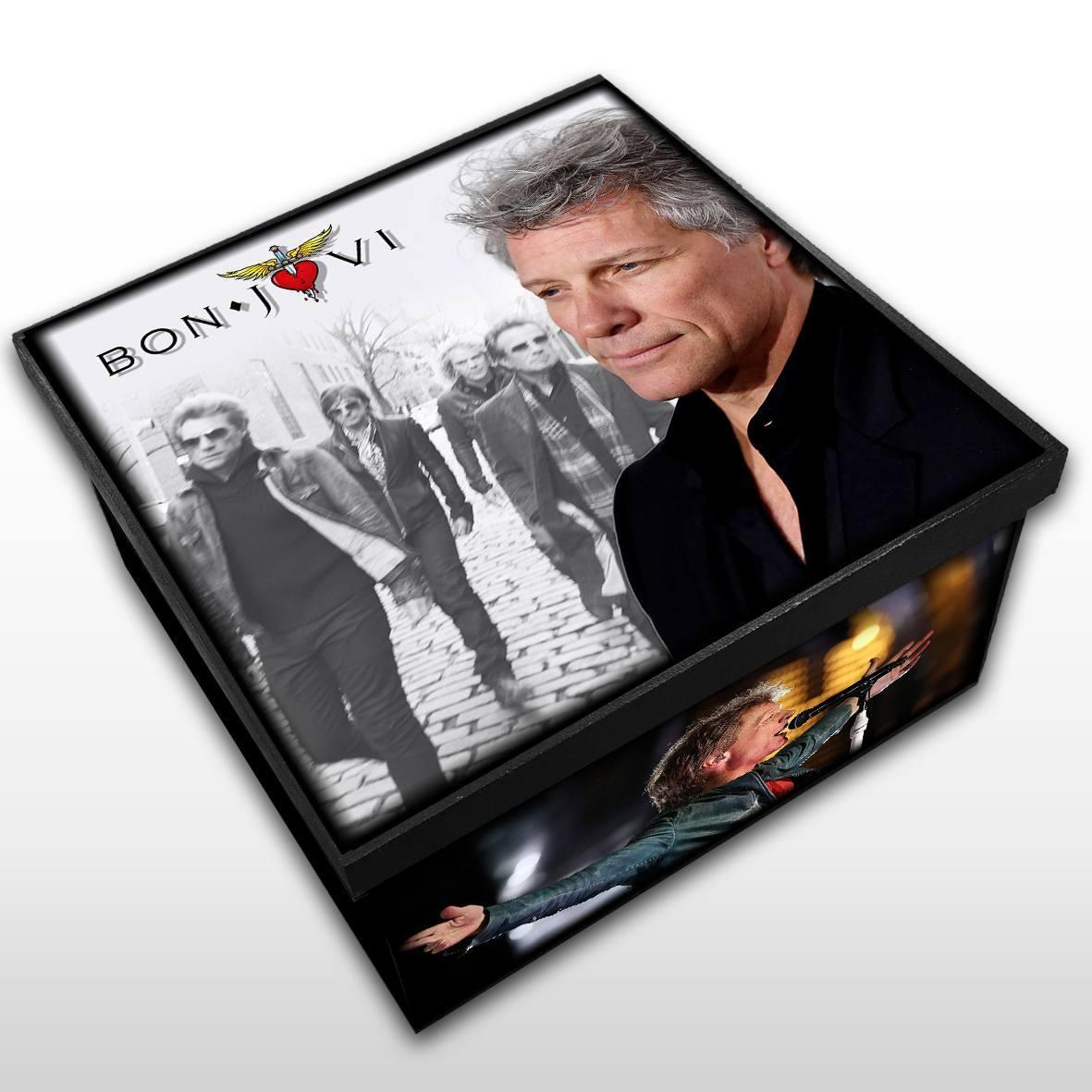 Bon Jovi - Caixa em Madeira MDF - Tamanho Médio - Mr. Rock