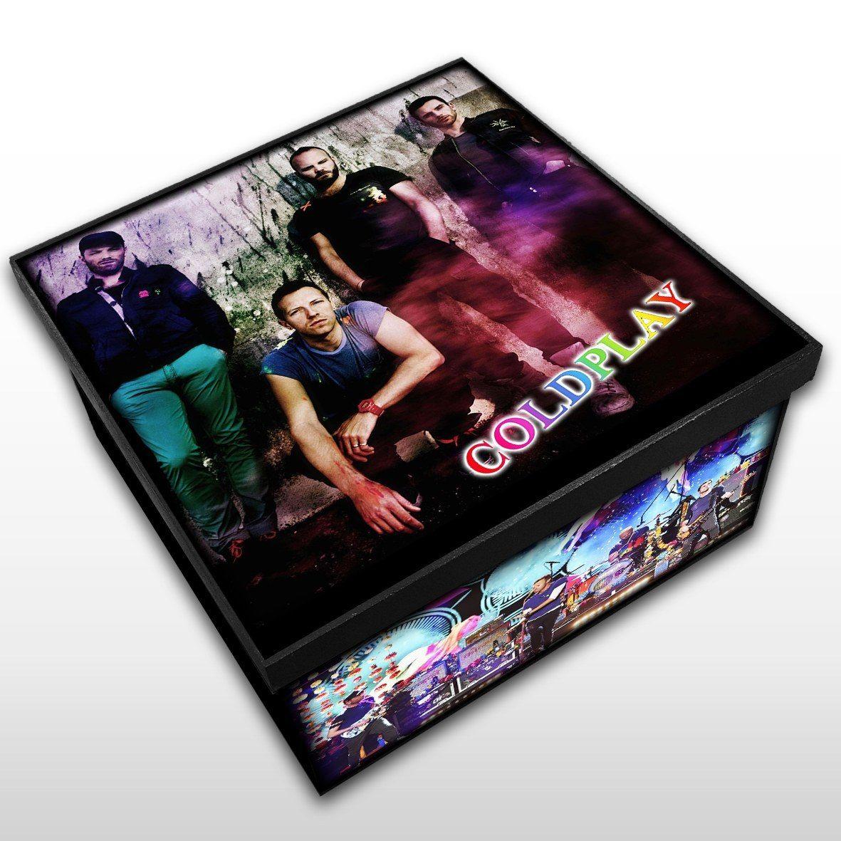 Coldplay - Caixa em Madeira MDF - Tamanho Médio - Mr. Rock