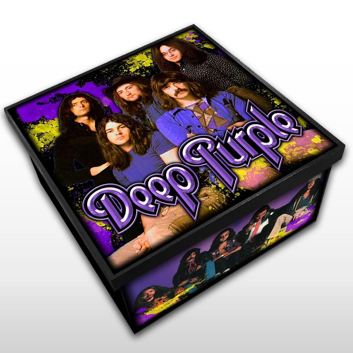 Deep Purple - Caixa em Madeira MDF - Tamanho Médio - Mr. Rock