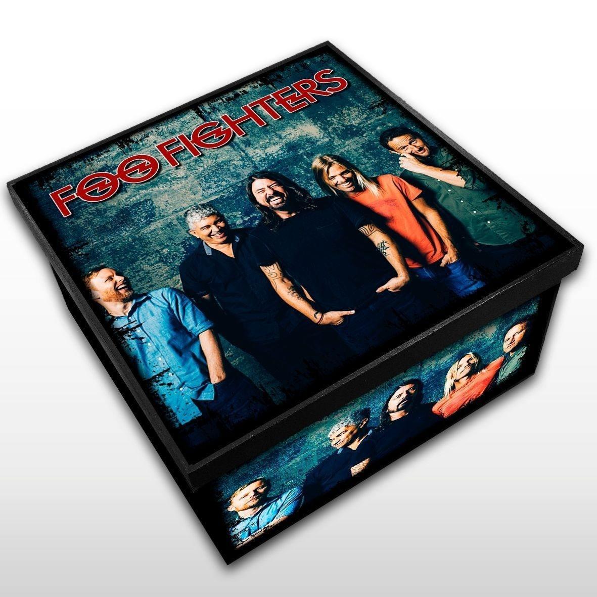 Foo Fighters - Caixa em Madeira MDF - Tamanho Médio - Mr. Rock
