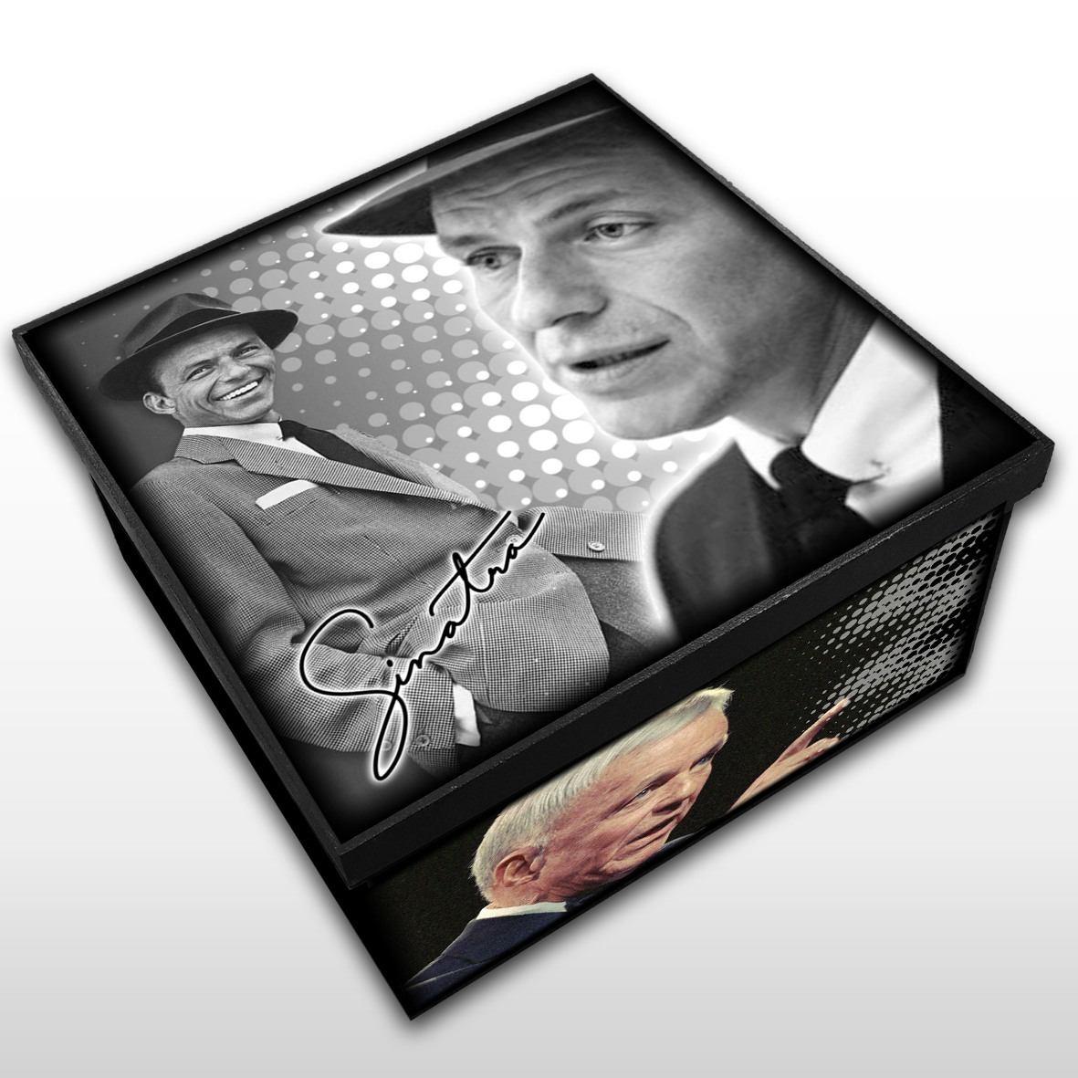 Frank Sinatra - Caixa em Madeira MDF - Tamanho Médio - Mr. Rock