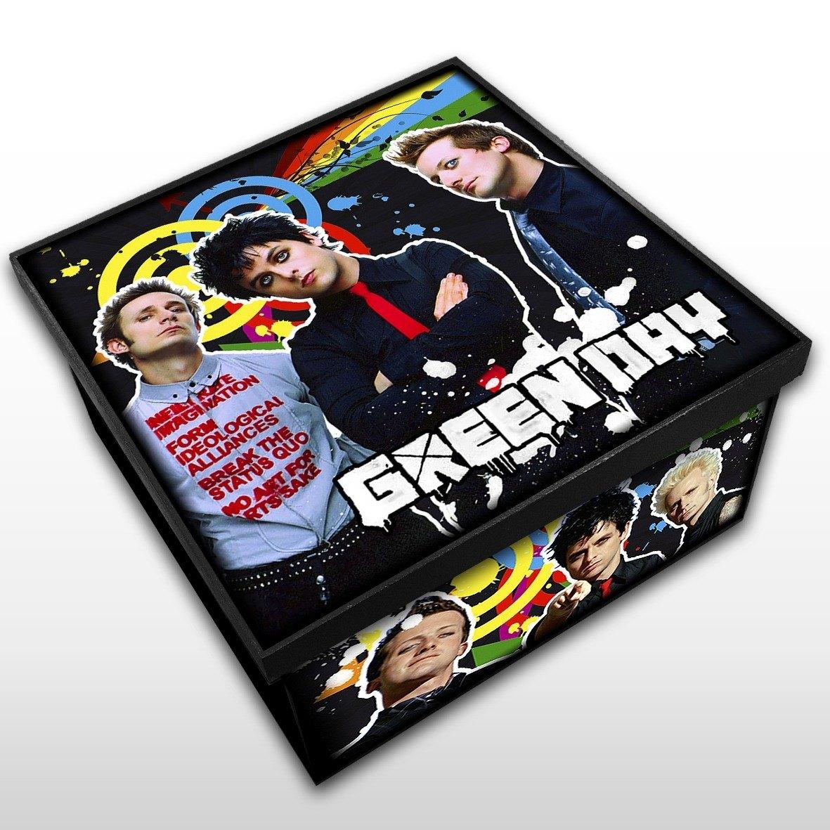Green Day - Caixa em Madeira MDF - Tamanho Médio - Mr. Rock