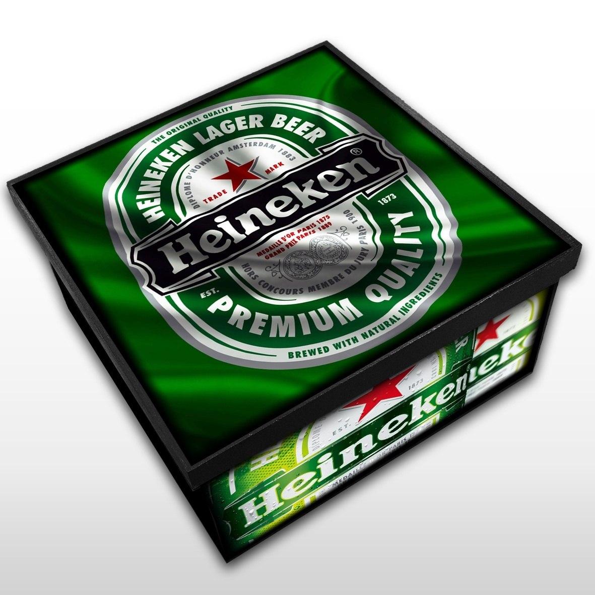 Heineken - Caixa em Madeira MDF - Tamanho Médio - Mr. Rock