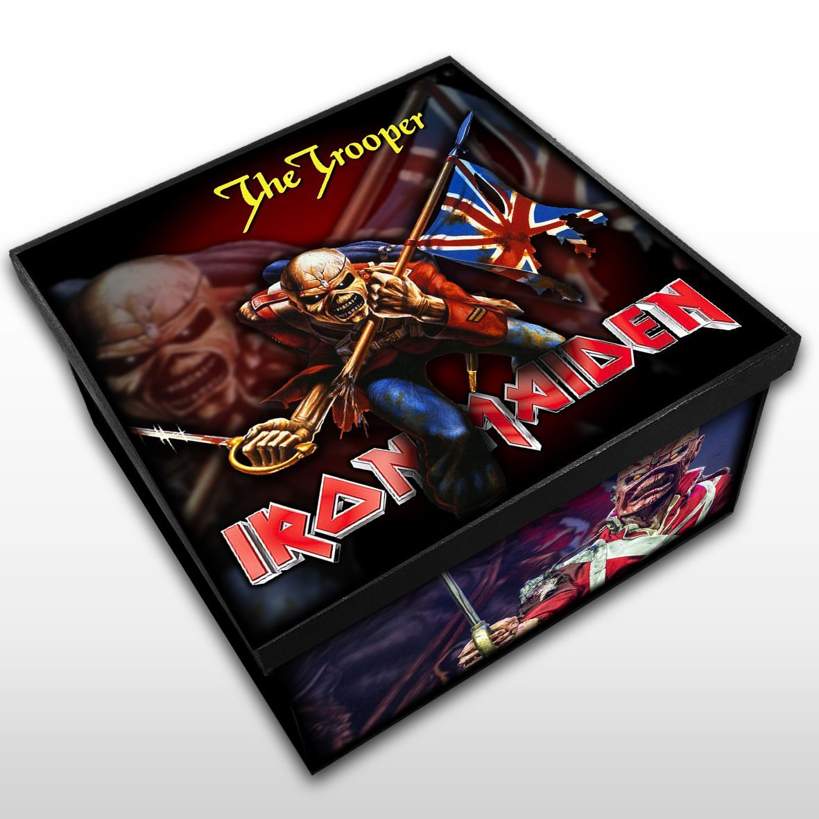 Iron Maiden - The Tropper - Caixa em Madeira MDF - Tamanho Médio - Mr. Rock