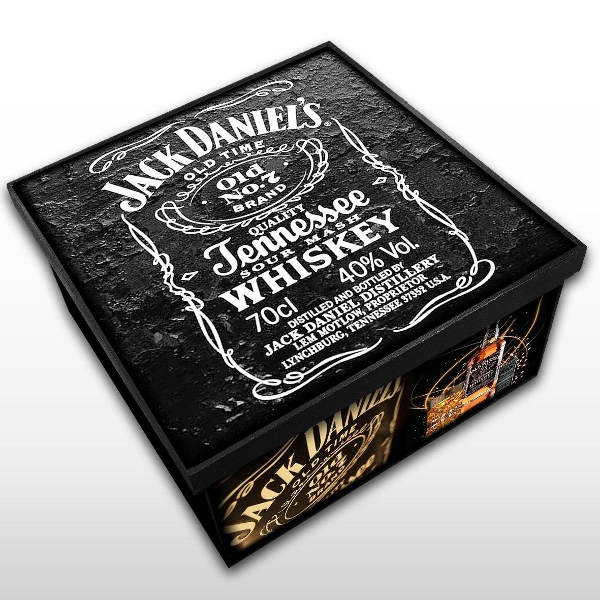 Jack Daniels - Caixa em Madeira MDF - Tamanho Médio - Mr. Rock