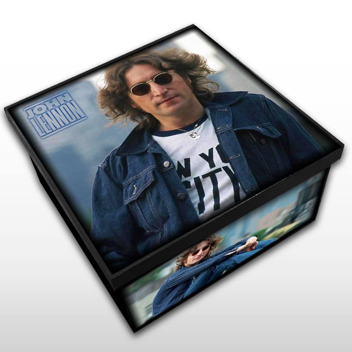 John Lennon - Caixa em Madeira MDF - Tamanho Médio - Mr. Rock
