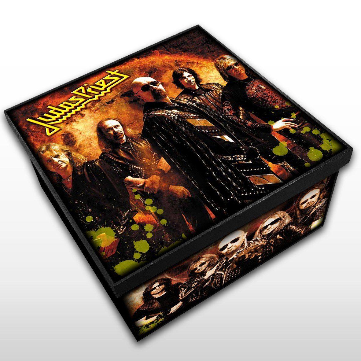 Judas Priest - Caixa em Madeira MDF - Tamanho Médio - Mr. Rock