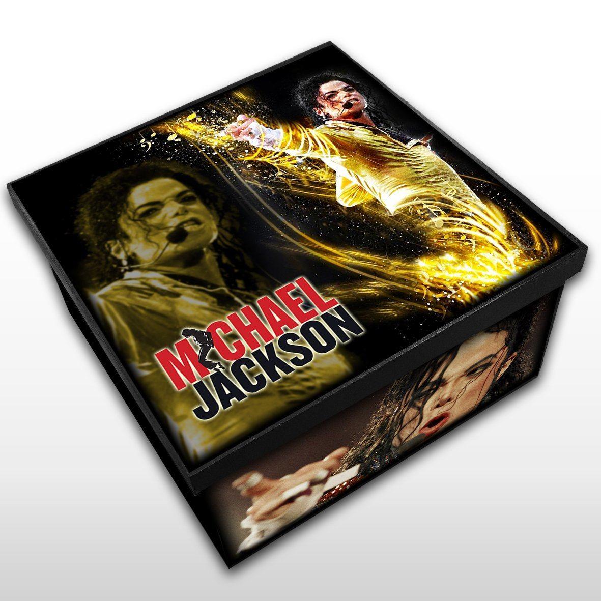 Michael Jackson - Caixa Organizadora em Madeira MDF - Tamanho Médio - Mr. Rock