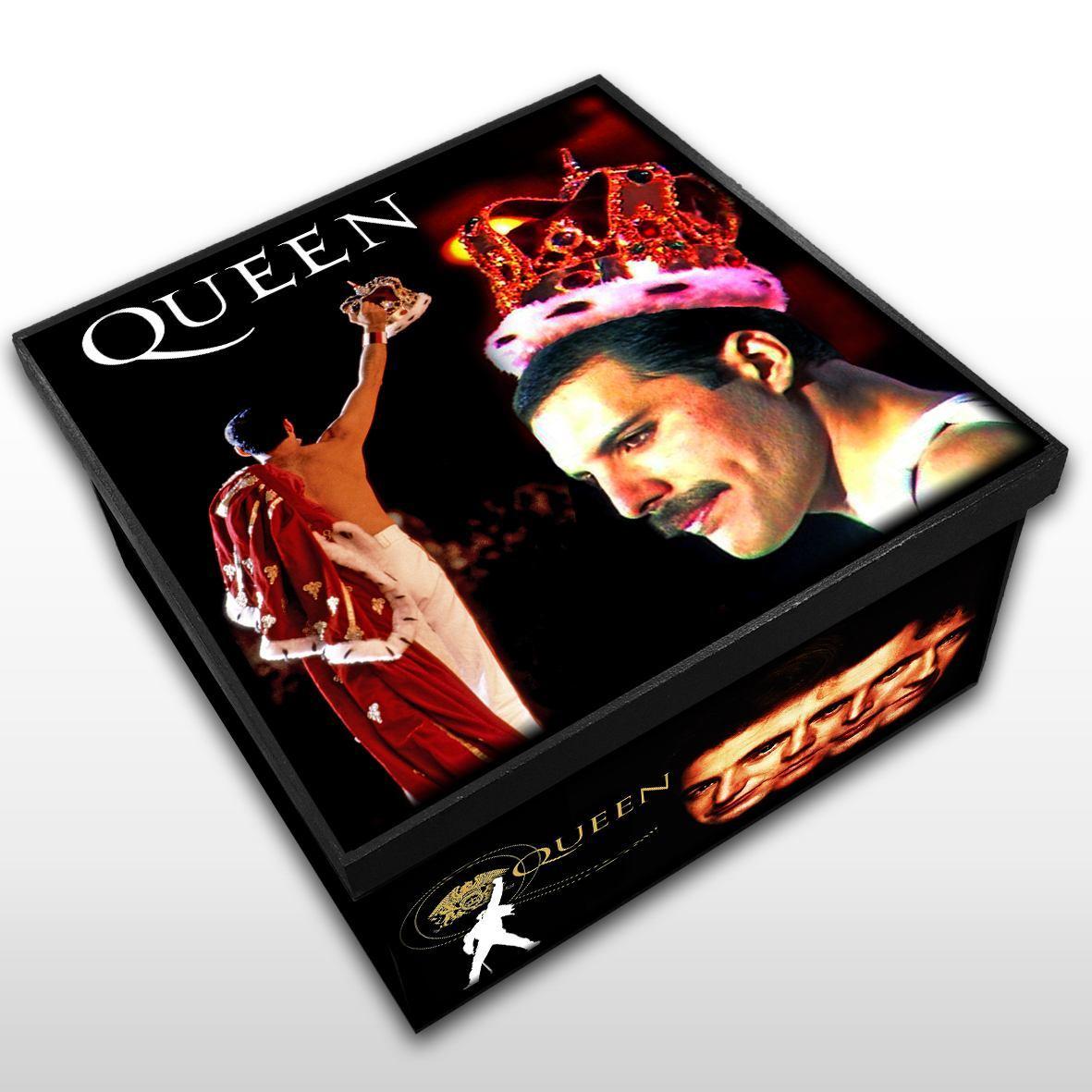 Queen - Caixa em Madeira MDF - Tamanho Médio - Mr. Rock