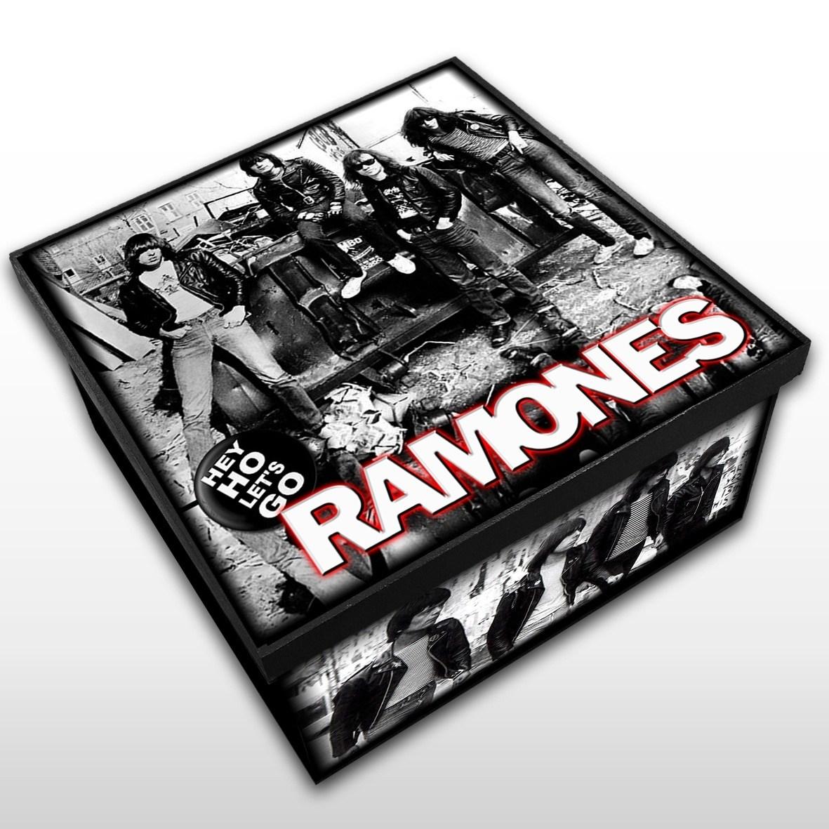 Ramones - Caixa em Madeira MDF - Tamanho Médio - Mr. Rock