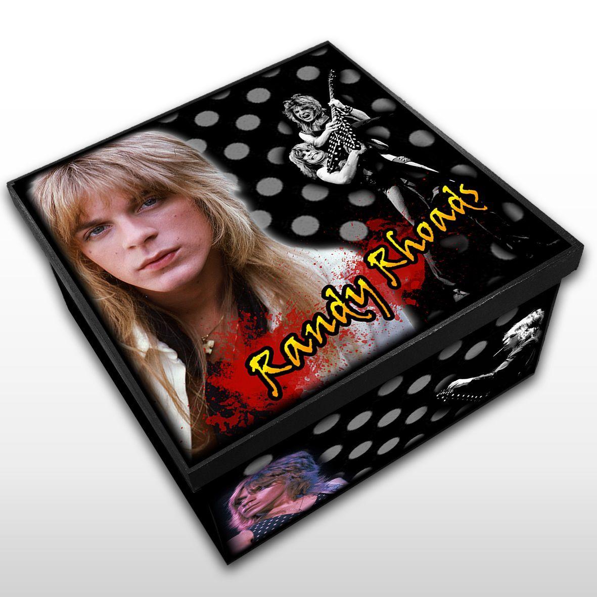Randy Rhoads - Caixa em Madeira MDF - Tamanho Médio - Mr. Rock