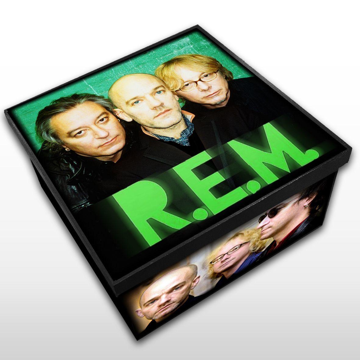 R.E.M - Caixa em Madeira MDF - Tamanho Médio - Mr. Rock