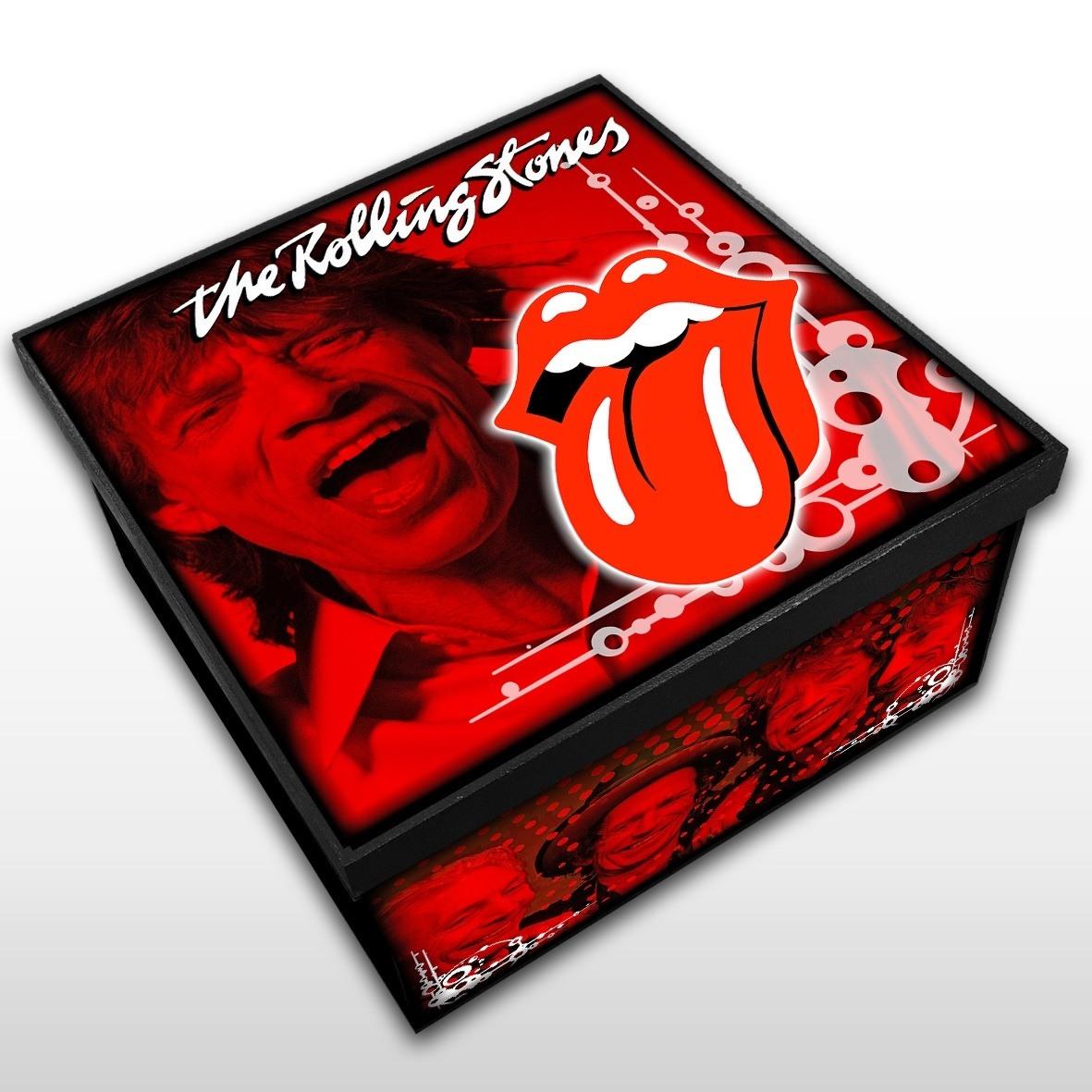 Rolling Stones - Caixa Madeira MDF - Tamanho Médio - Mr. Rock