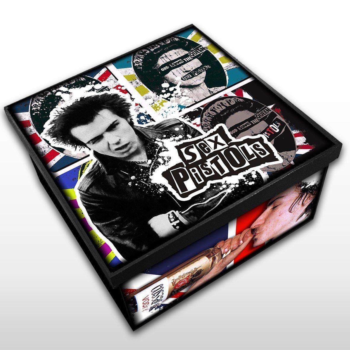 Sex Pistols - Caixa em Madeira MDF - Tamanho Médio - Mr. Rock