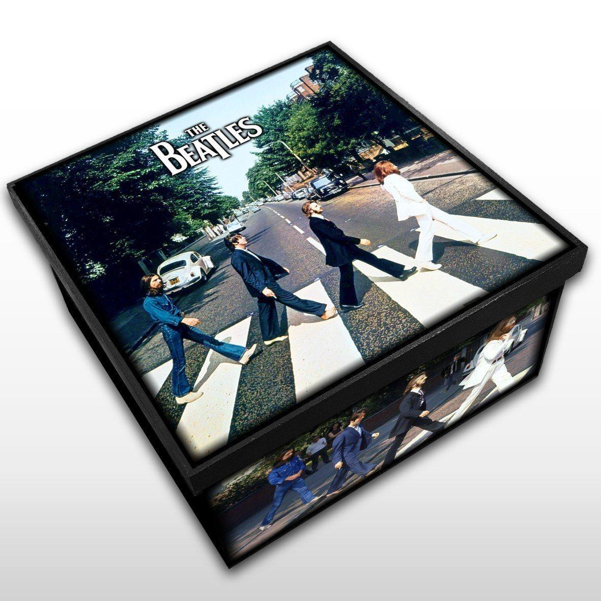 The Beatles - Abbey Road - Caixa em Madeira MDF - Tamanho Médio - Mr. Rock
