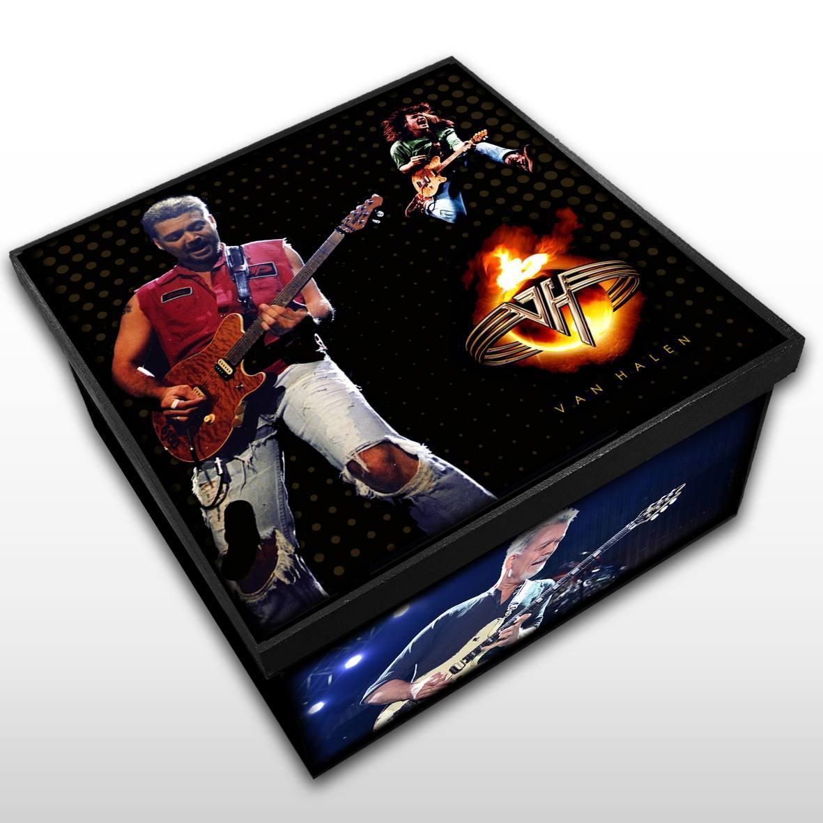 Van Halen - Caixa em Madeira MDF - Tamanho Médio - Mr. Rock