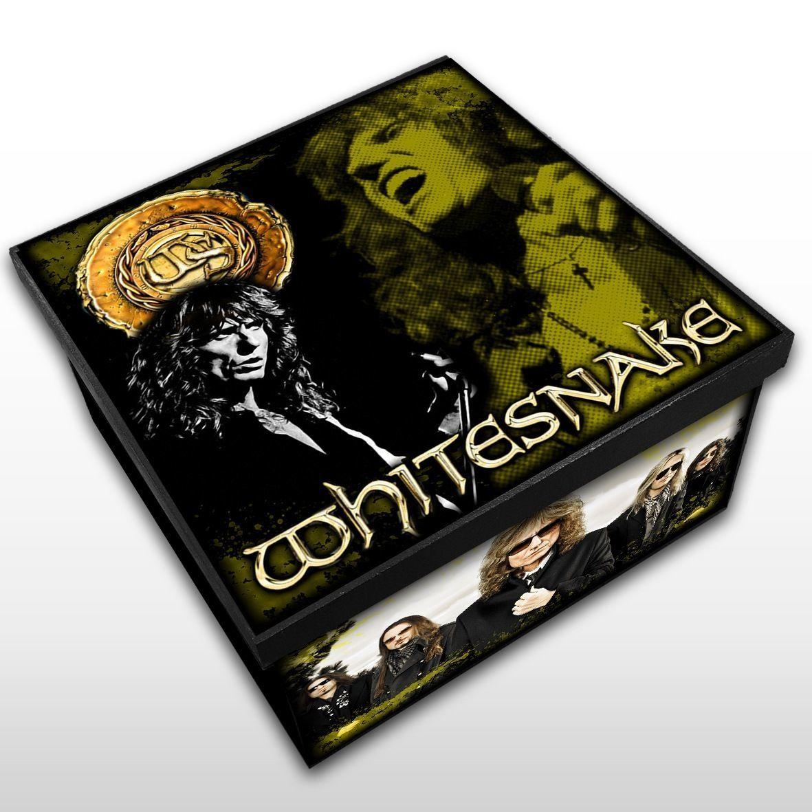 Whitesnake - Caixa em Madeira MDF - Tamanho Médio - Mr. Rock