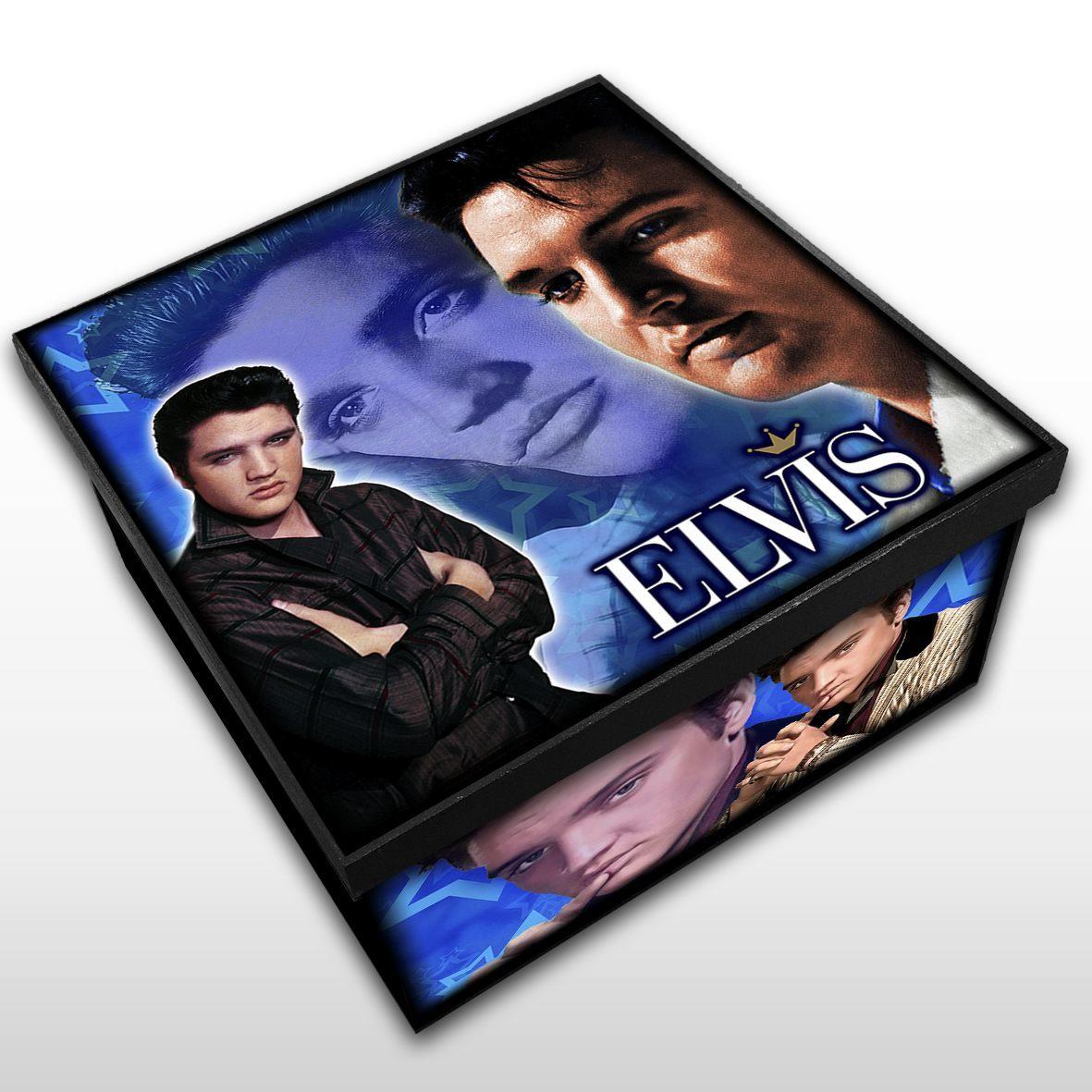 Elvis Presley - Caixa em Madeira MDF - Tamanho Médio - Mr. Rock