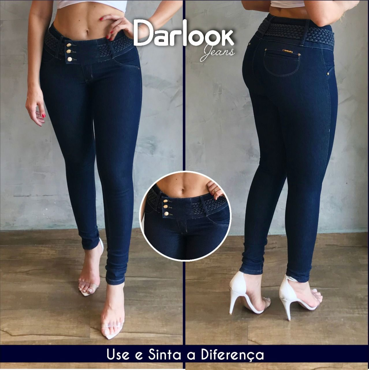 Calça Jeans com Trança Polly ref. 39220