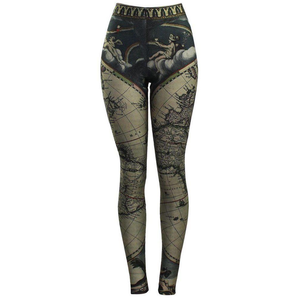Calça Legging Feminina Bloody Maps - Bloody Hell Wear