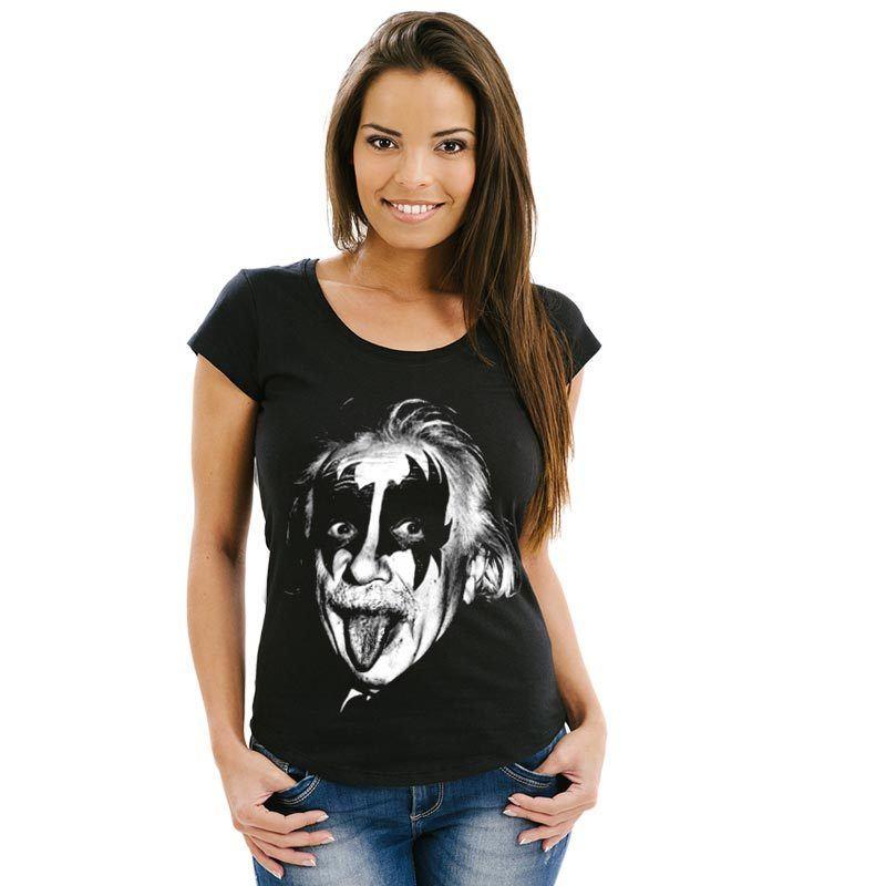 Camiseta feminina Einstein Gene Simmons