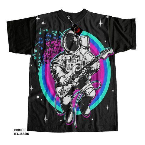 Camiseta Astronauta Guitarrista