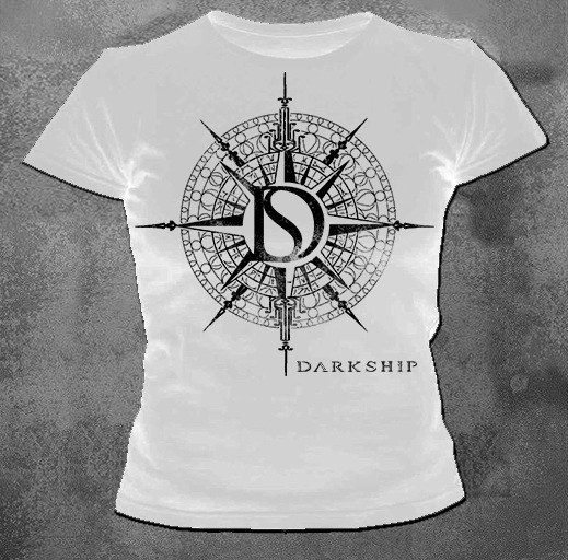 Camiseta Baby Look Feminina Branca Darkship