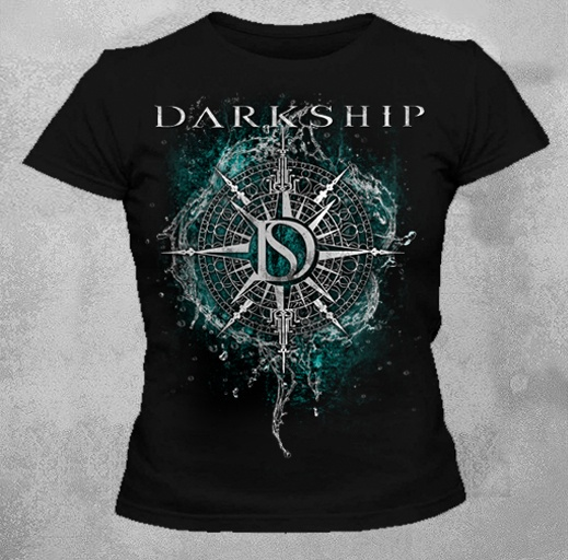Camiseta Baby Look Feminina Preto Darkship