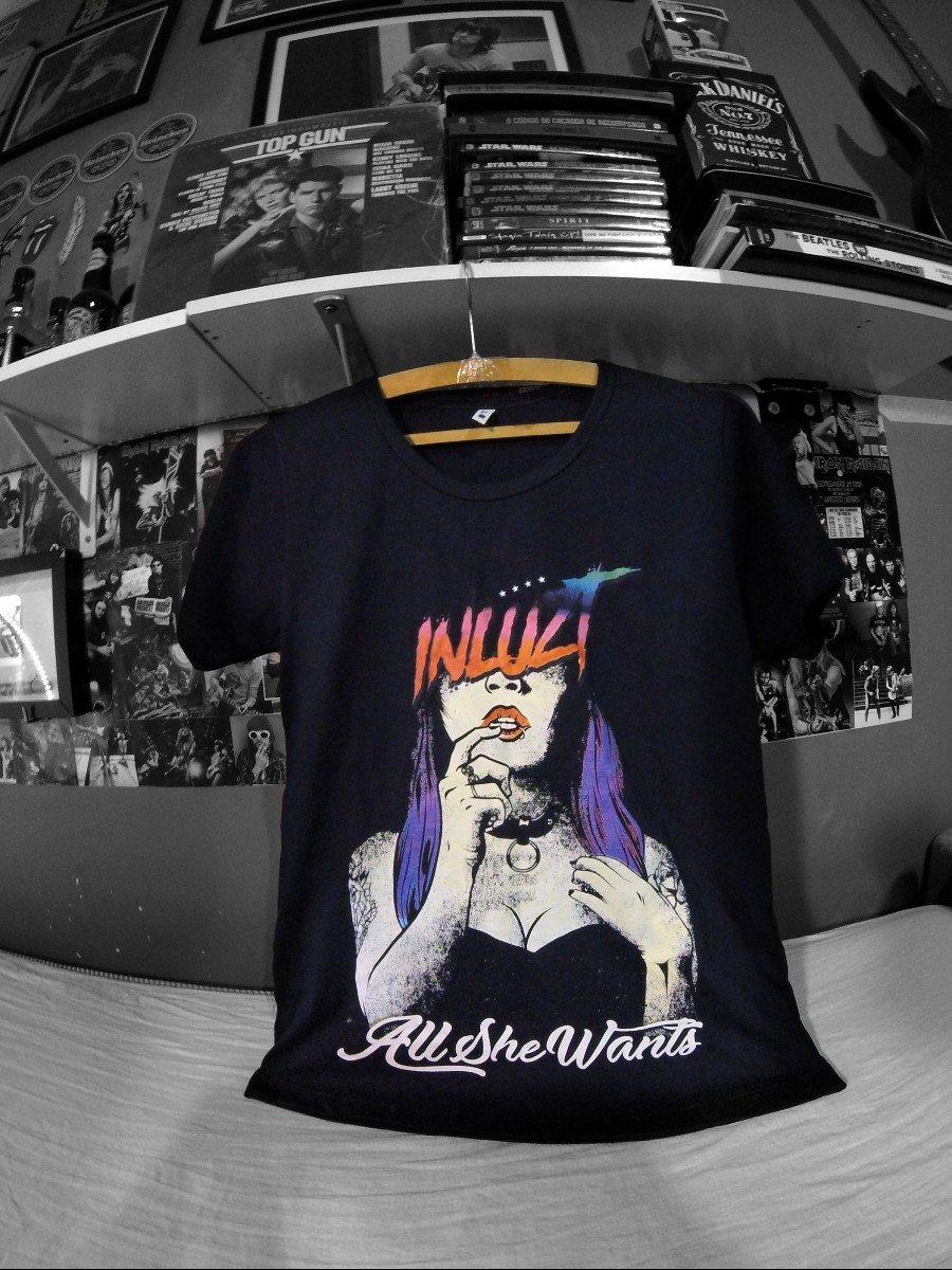 Camiseta Banda Inluzt All She Wants Desenhada