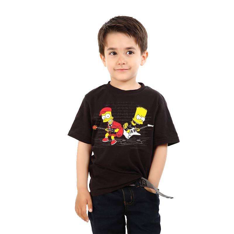 Camiseta infantil Bart Simpsons Duelo de Guitarra