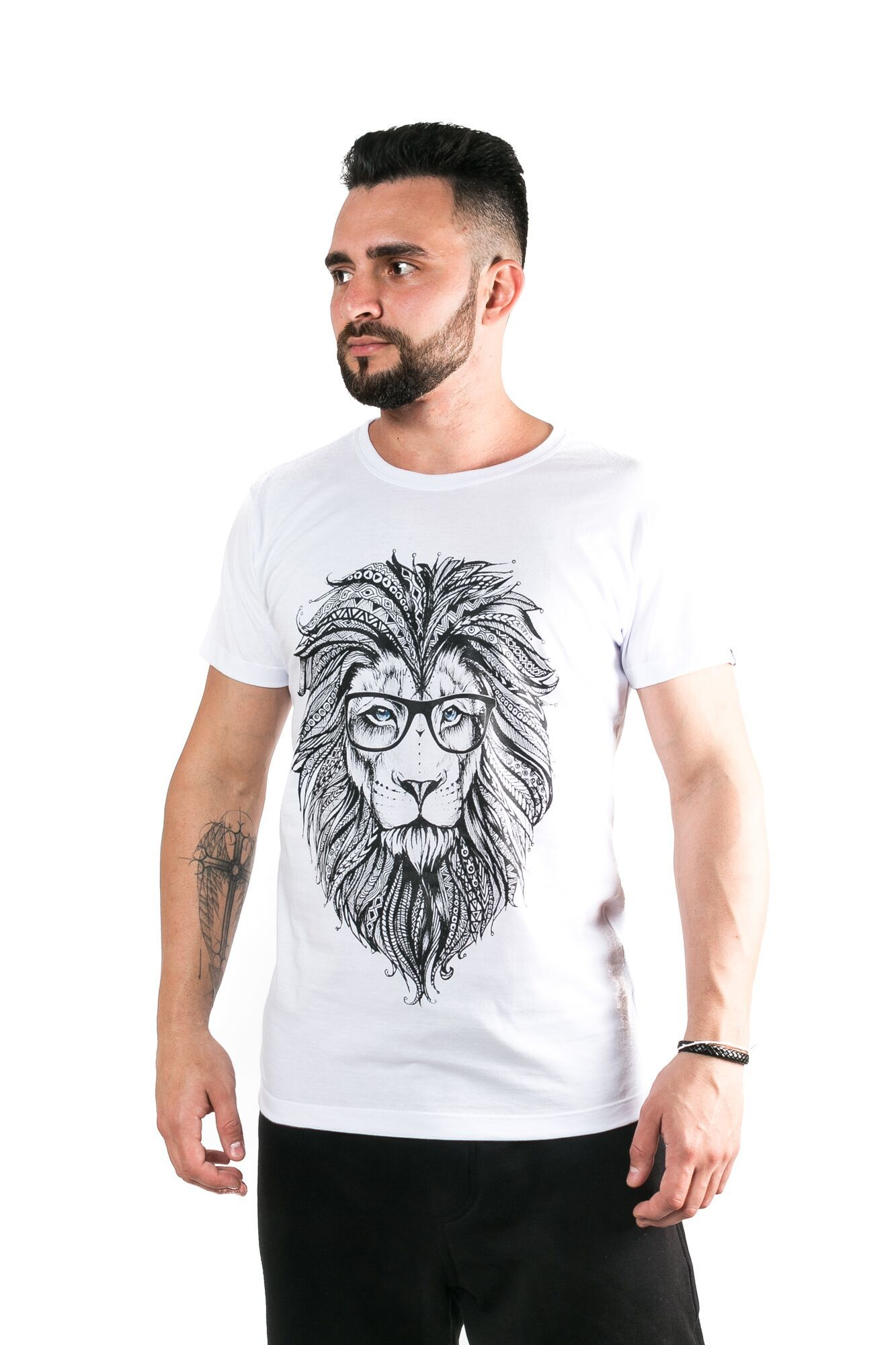 Camiseta Básica Gola Careca Lion