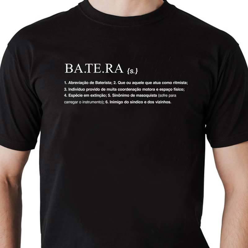 Camiseta masculina Batera Dicionário