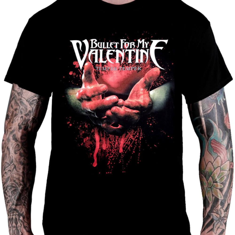 Camiseta Bullet For My Valentine Temper Temper - Consulado do Rock