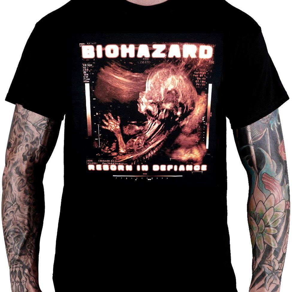 Camiseta Biohazard - Reborn in Defiance