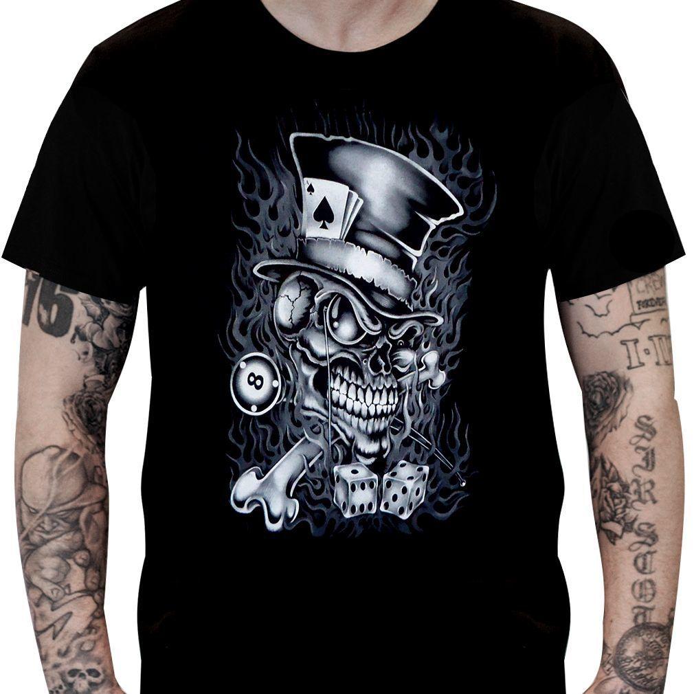Camiseta Caveira Cartola