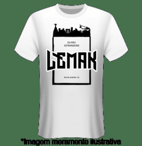 Camiseta Estrangeiro - Banda Lemak - Merchandising Oficial