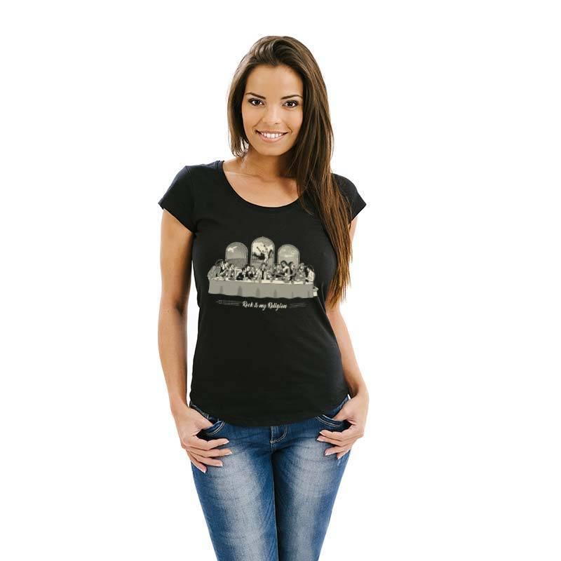 Camiseta feminina Rock Is My Religion 2.0